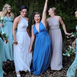 ASOS Slate Blue Bridesmaid dress